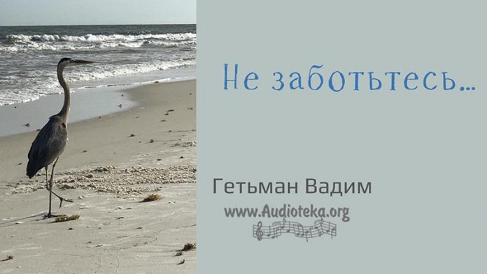 Не заботтесь - Гетьман Вадим