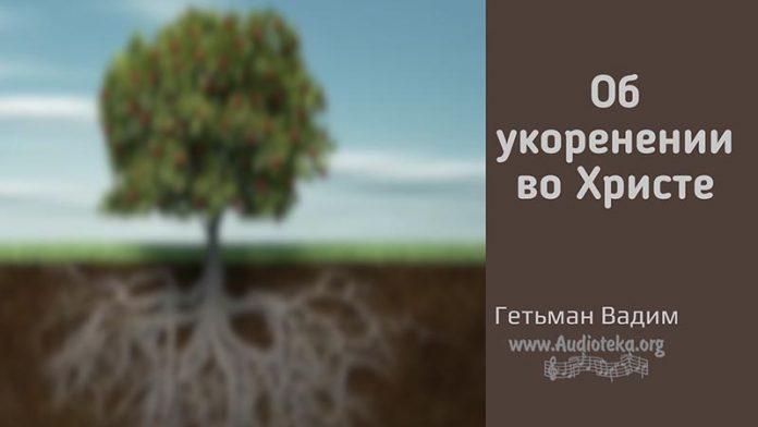 Об укоренении во Христе - Гетьман Вадим